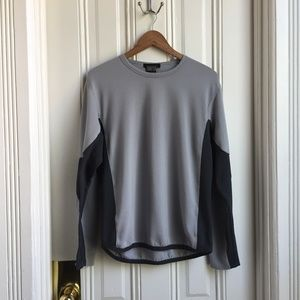 Nike Sphere Long Sleeve Grey Textured Workout Top